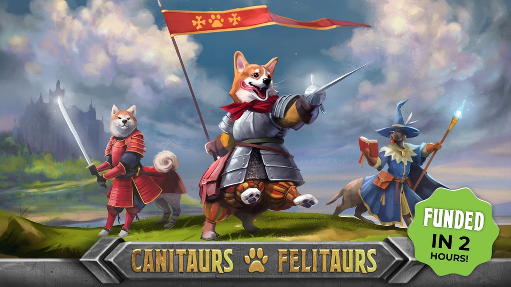 Canitaurs & Felitaurs: Miniatures and Cards Set for DnD 5E project video thumbnail