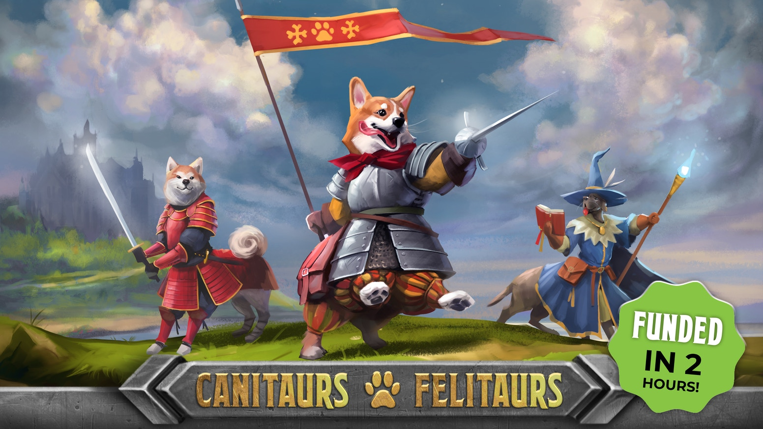 Canitaurs & Felitaurs: Miniatures and Cards Set for DnD 5E by Punga