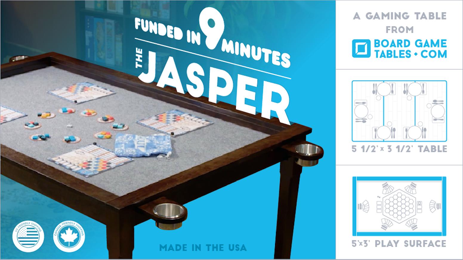 The Jasper: A Board Gaming Table by Chad DeShon — Kickstarter