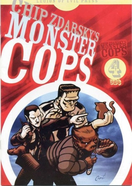 Sample issue cover of Chip Zdarsky's Monster Cops