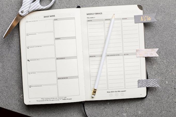 the daily career journal by gia ganesh kickstarter