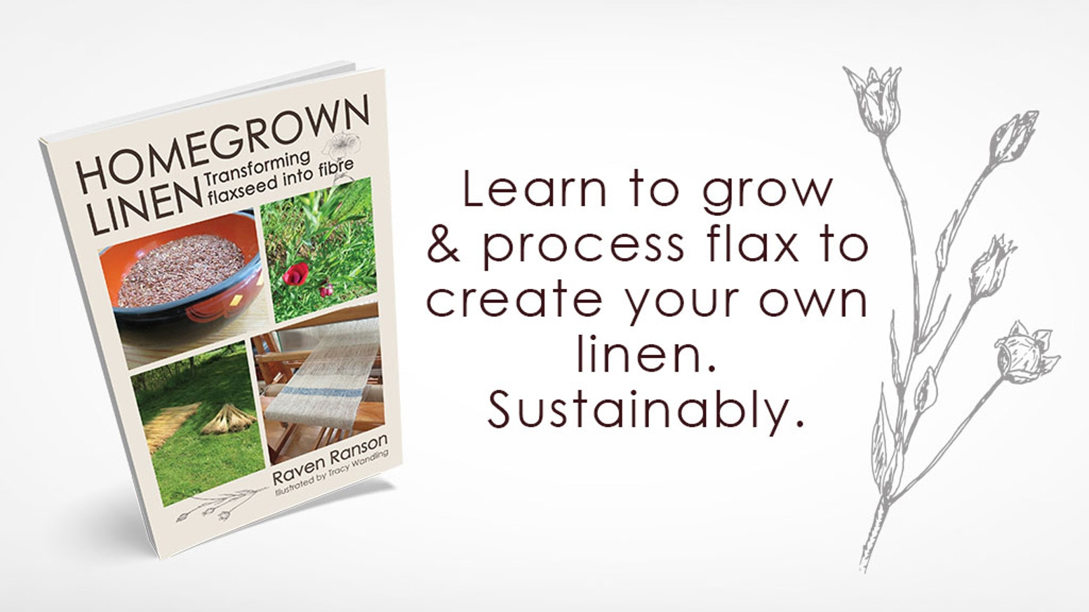 Grow your very own linen yarn, sustainably and organically. A book for homesteaders and yarn lovers.