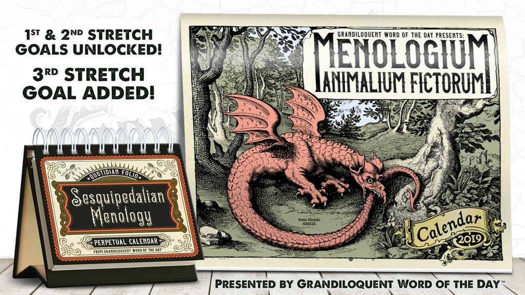 grandiloquent word of the day 2019 calendars project video thumbnail