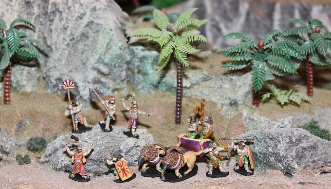 Horus Group with Command, Guard, Chariot, Archer, Spear, and Khopesh sampling