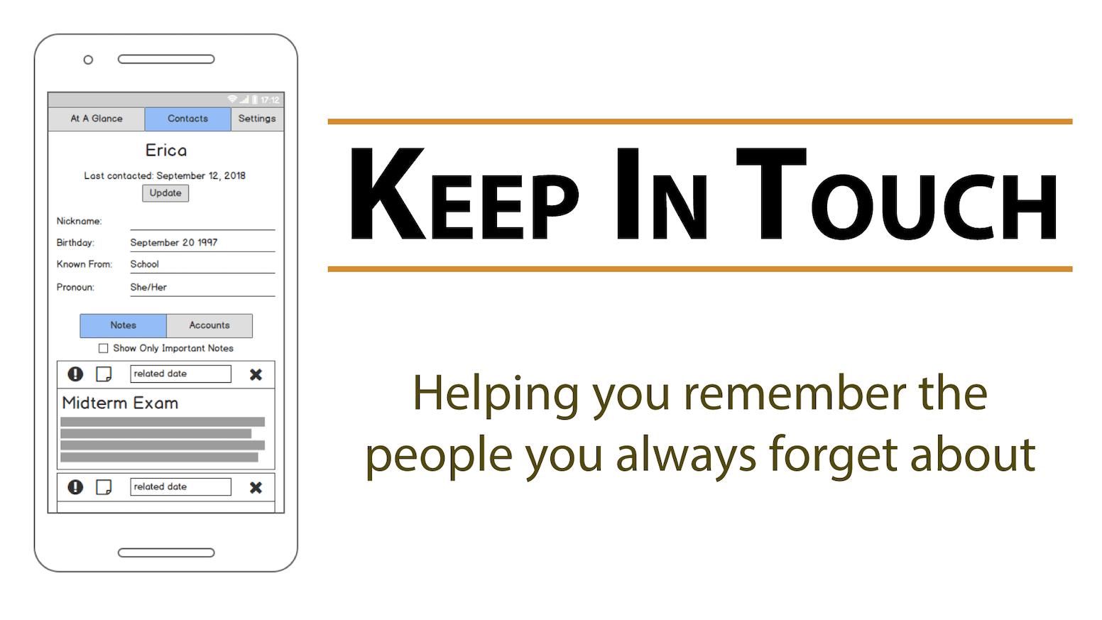 Keep In Touch - Minimal Android App by Pat Wilken — Kickstarter