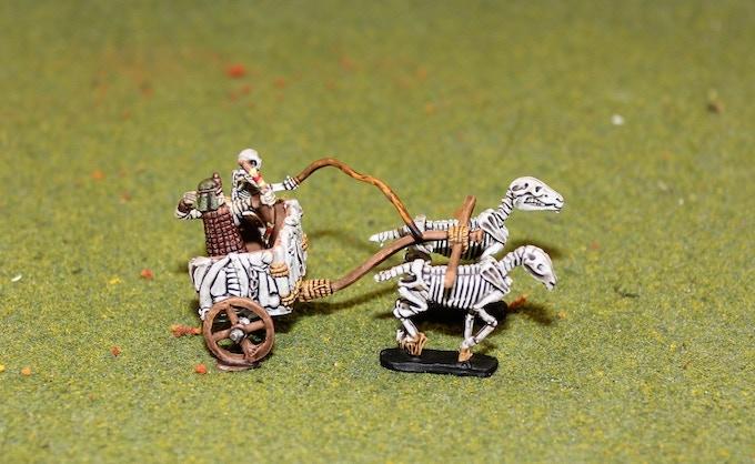 Egyptian Skeleton Chariot