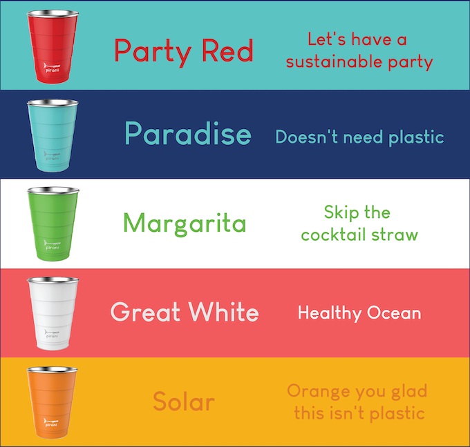 Official Pirani Party Tumbler Color Options