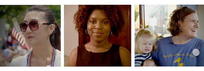 Represent's Candidates: Julie, Myya & Bryn