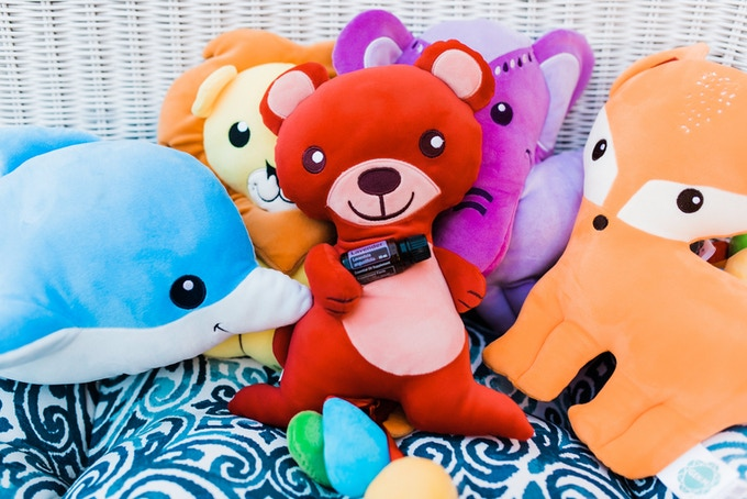 Red Bear brought some lavender along to share with friends Dolphin, Lion, Elephant, and Fox!
