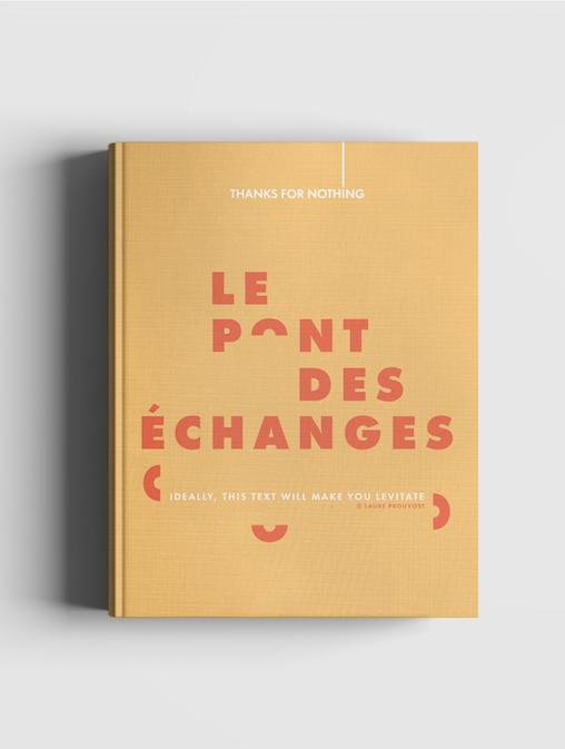 """Prototype du carnet personnalisé """"Le Pont des échanges""""/Mockup of the customized """"Le Pont des échanges"""" notebook"""