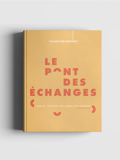 "Prototype du carnet personnalisé ""Le Pont des échanges""/Mockup of the customized ""Le Pont des échanges"" notebook"