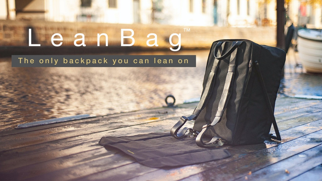 LeanBag™ - The World's First Backpack You Can Lean On project video thumbnail