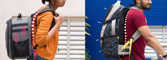 Closer to your spine, to carry it ergonomically (Left- A normal backpack, Right- EUME Daily Pack)