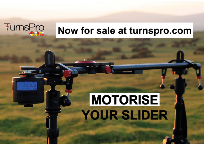 This kit allows you to motorise most sliders for real time and timelapse shots.  Get perfect smooth footage with a simple fast setup.