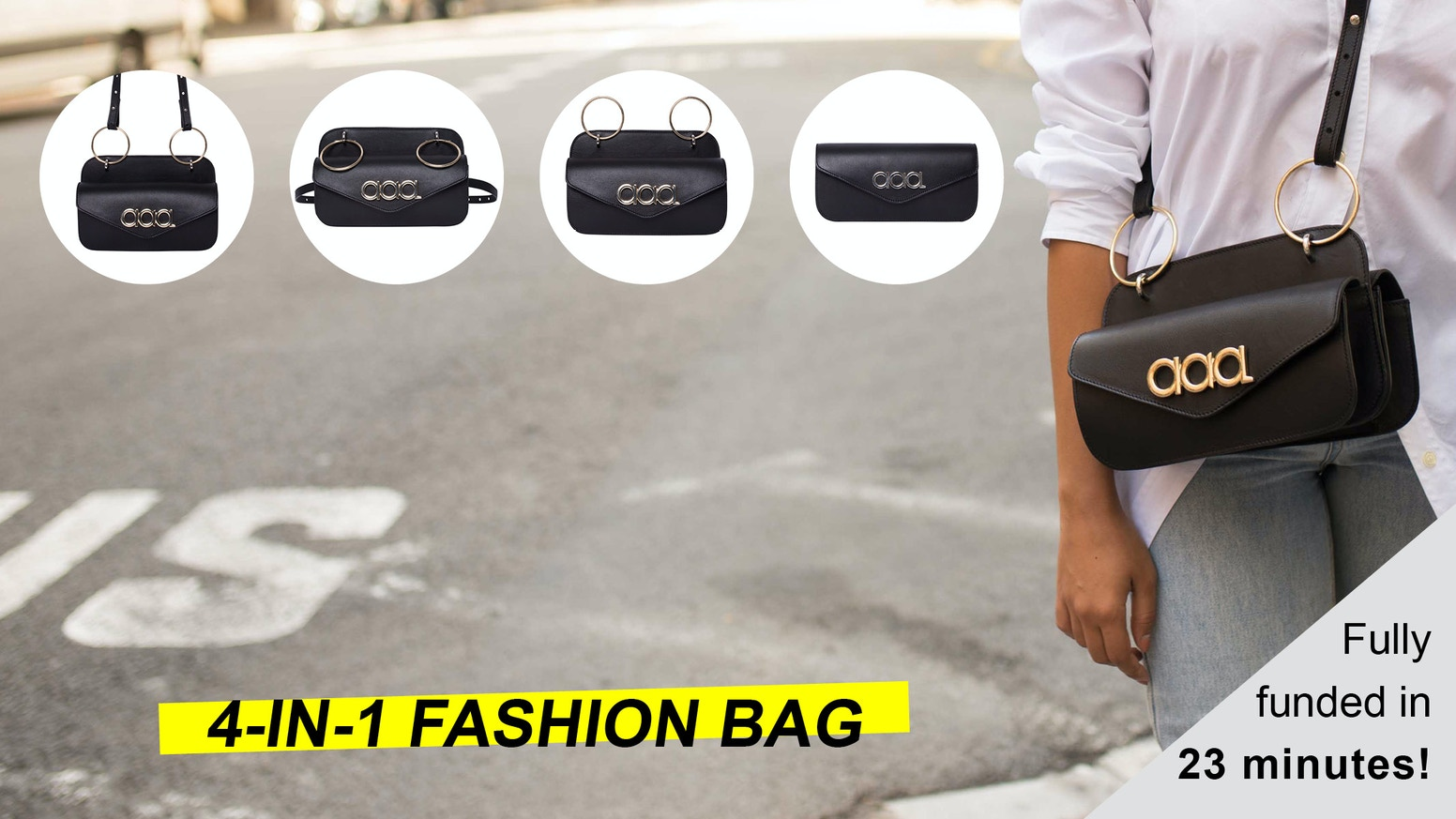The first 4-in-1 fashion bag that fits any situation of your life. | Multi-position | High-tech | Vegan Leather | Made in Spain |