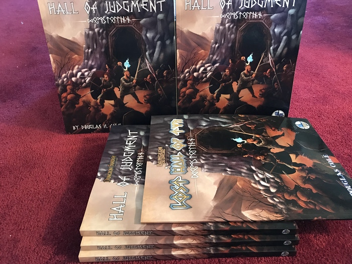 Hall of Judgment is a micro-setting and scenario for the Dungeon Fantasy Roleplaying Game (Powered by GURPS). Explore a Viking-flavored world and undertake a perilous journey to find a long-lost holy site.