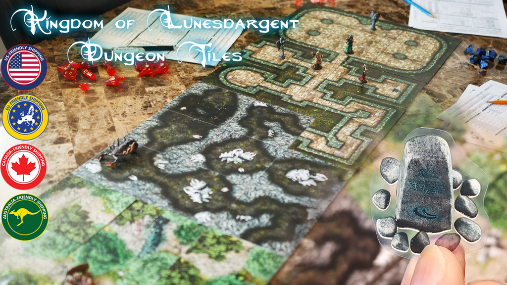 Kingdom of Lunesdargent - 4 in 1 Modular Tiles & Decorations