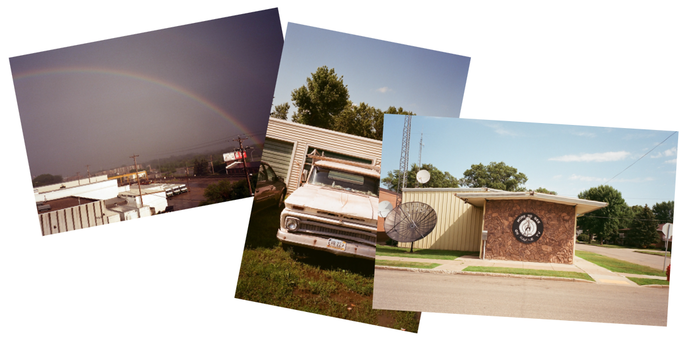 real 35 mm film photographs taken of North Dakota, signed by our cinematographer Dean Peterson