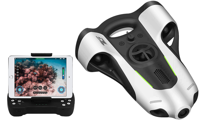BW-Space allows anyone to capture amazing underwater photography with BW-Space's auto-adjust lighting, auto-piloting modes, and 4K camera.