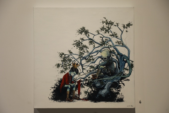 """CANDICE TRIPP (collab with Eugene Hutz) """"THE BOY WITH THE CROOKED GRIN #2"""" (ORIGINAL)"""