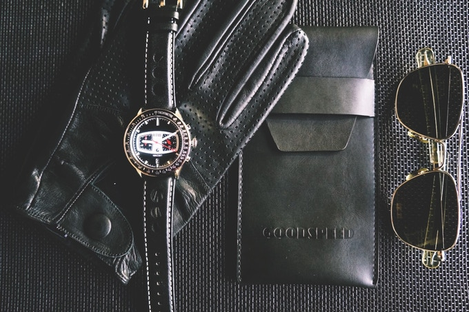 Goodspeed PETROL with leather case shown