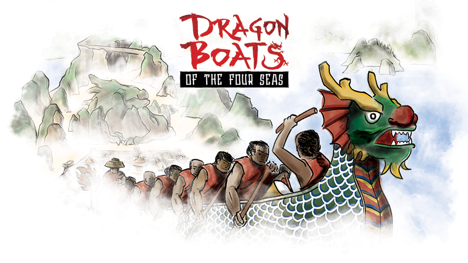 As leaders of noble houses in the middle kingdom, players make offerings for safe passage on dragon boats, to expand to forgotten lands