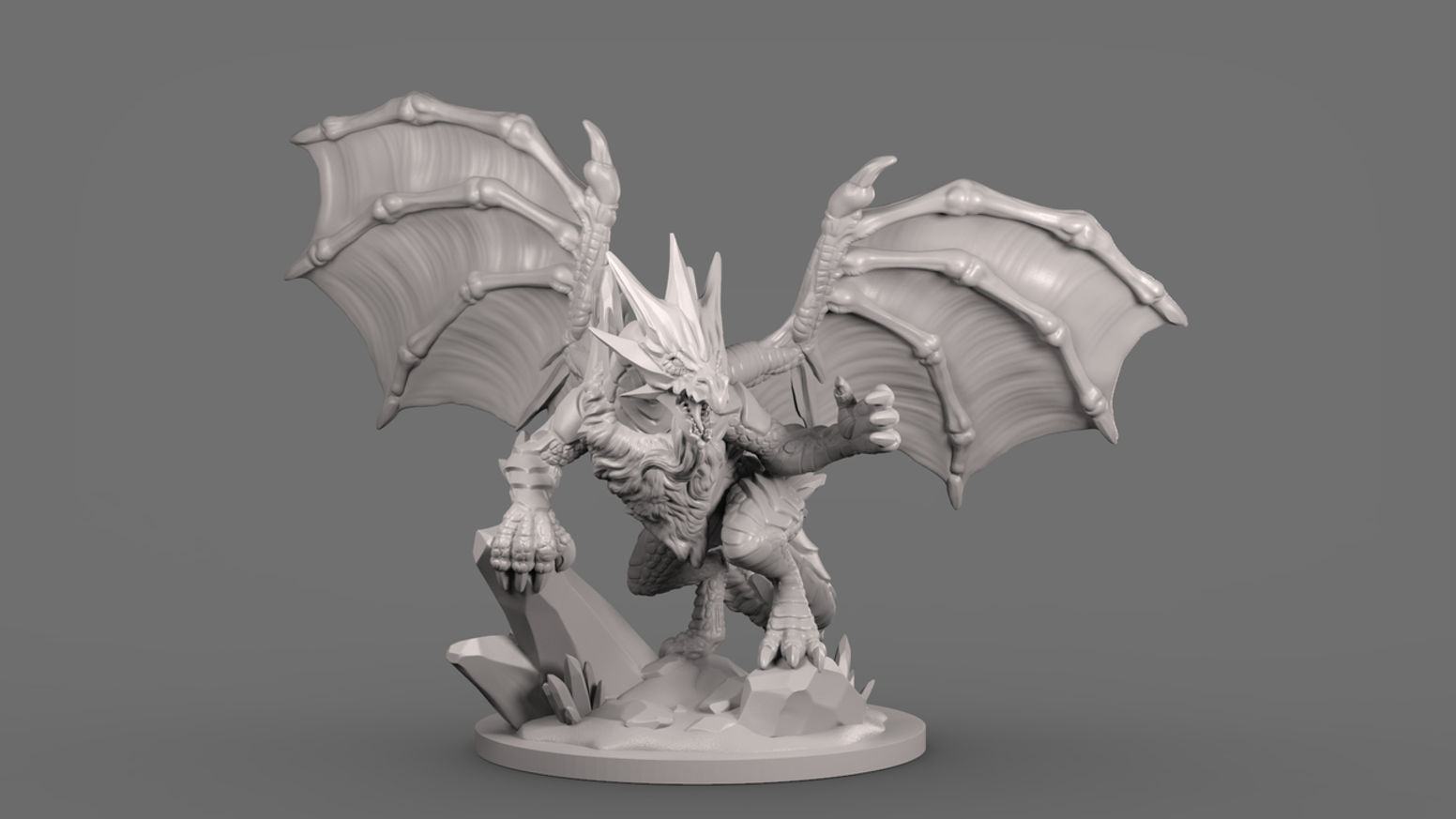 Creating a set of unique, highly-detailed 3D models of fantasy dragons for home 3D printing.
