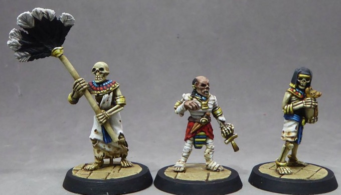 6. Mummy prince with skeletal servants. Sculpted by Tim Prow.