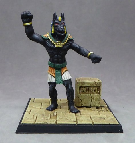 8. Statue of Anubis - animated (51mm) and plinth (15mm).  Sculpted by Andrew May.