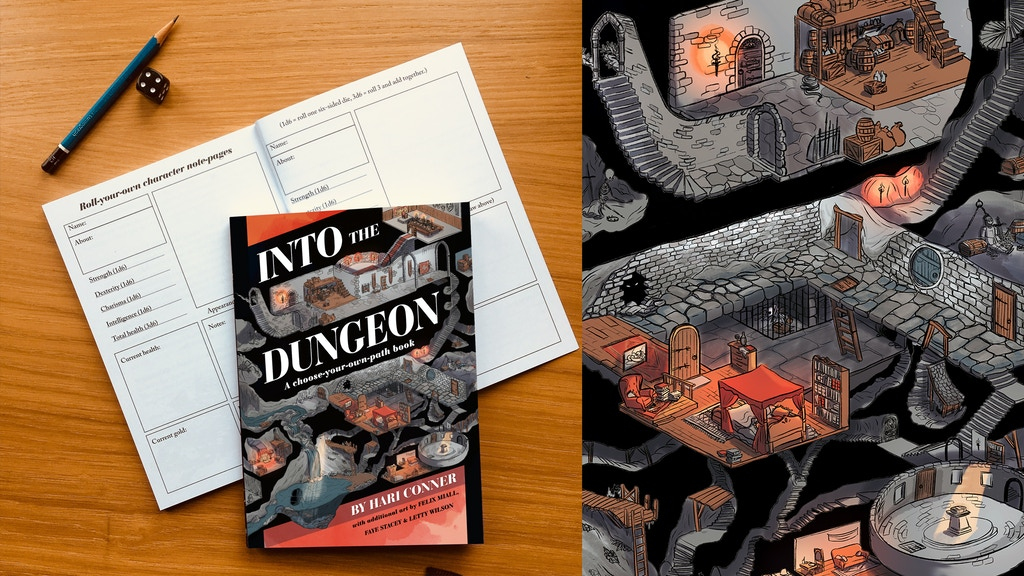 Into the Dungeon choose-your-own-path book project video thumbnail