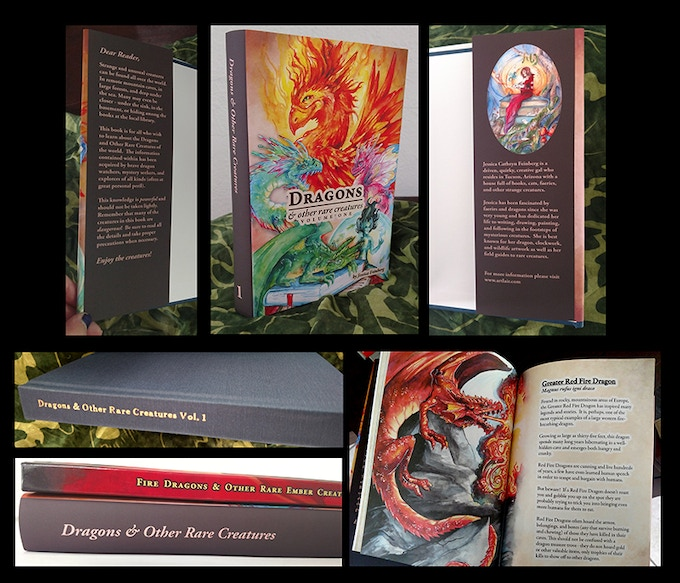 Photos of the Hardcover Proof all set for me to draw a custom cover with gold pen!