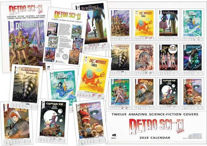 Calendar 2018 - Retro Sci-Fi Tales