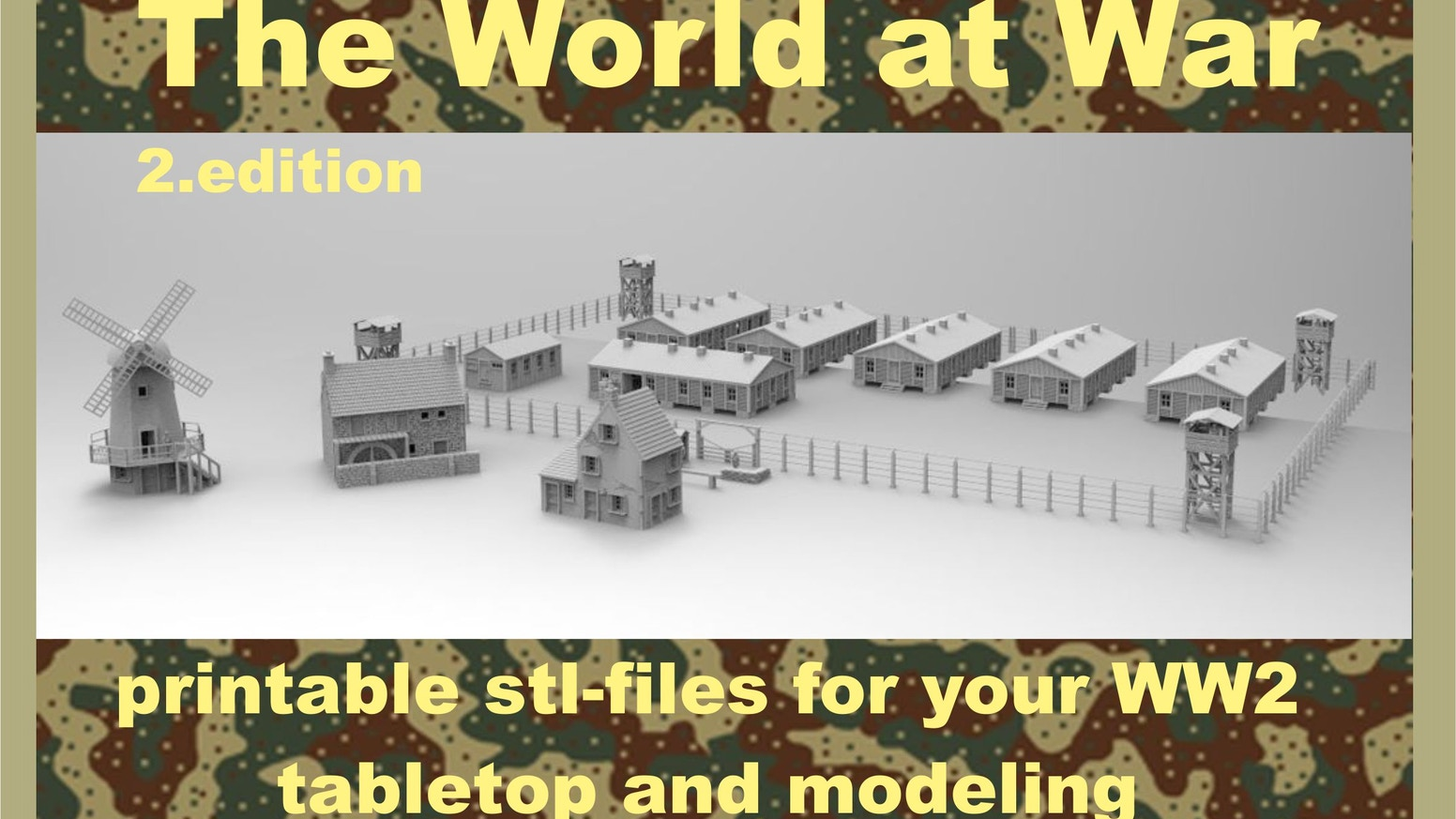 The World at War part II, 3d printable files for tabletop and modeling