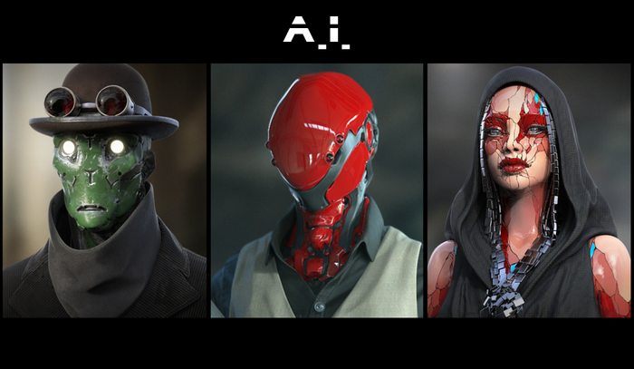 Ouroboros Miniatures presents - A.I. a series of Sci-Fi robot busts cast in high quality resin. Created by Oleg Aleinikov.