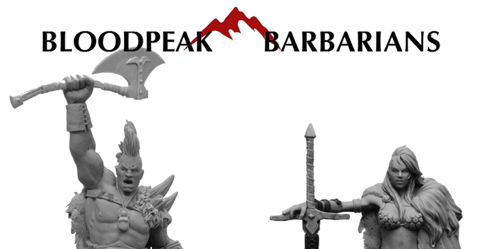 We proudly present the Bloodpeak Barbarians! 54mm scale fantasy characters cast in high quality resin.
