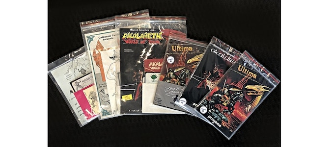 Some of the rarest Akalabeth and Ultima releases, from Enrico Ricciardi collection
