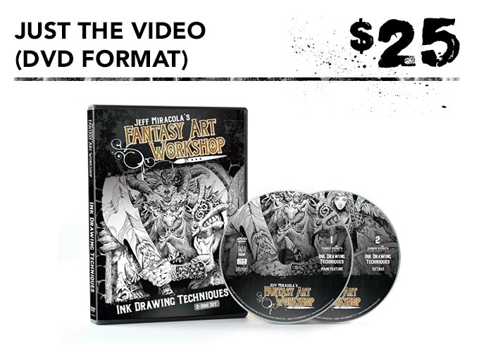 You get one DVD of the inking video + a digital download of inking video.