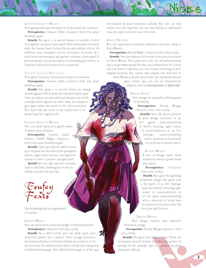 Official Niobe Paizo Pathfinder Sample 2