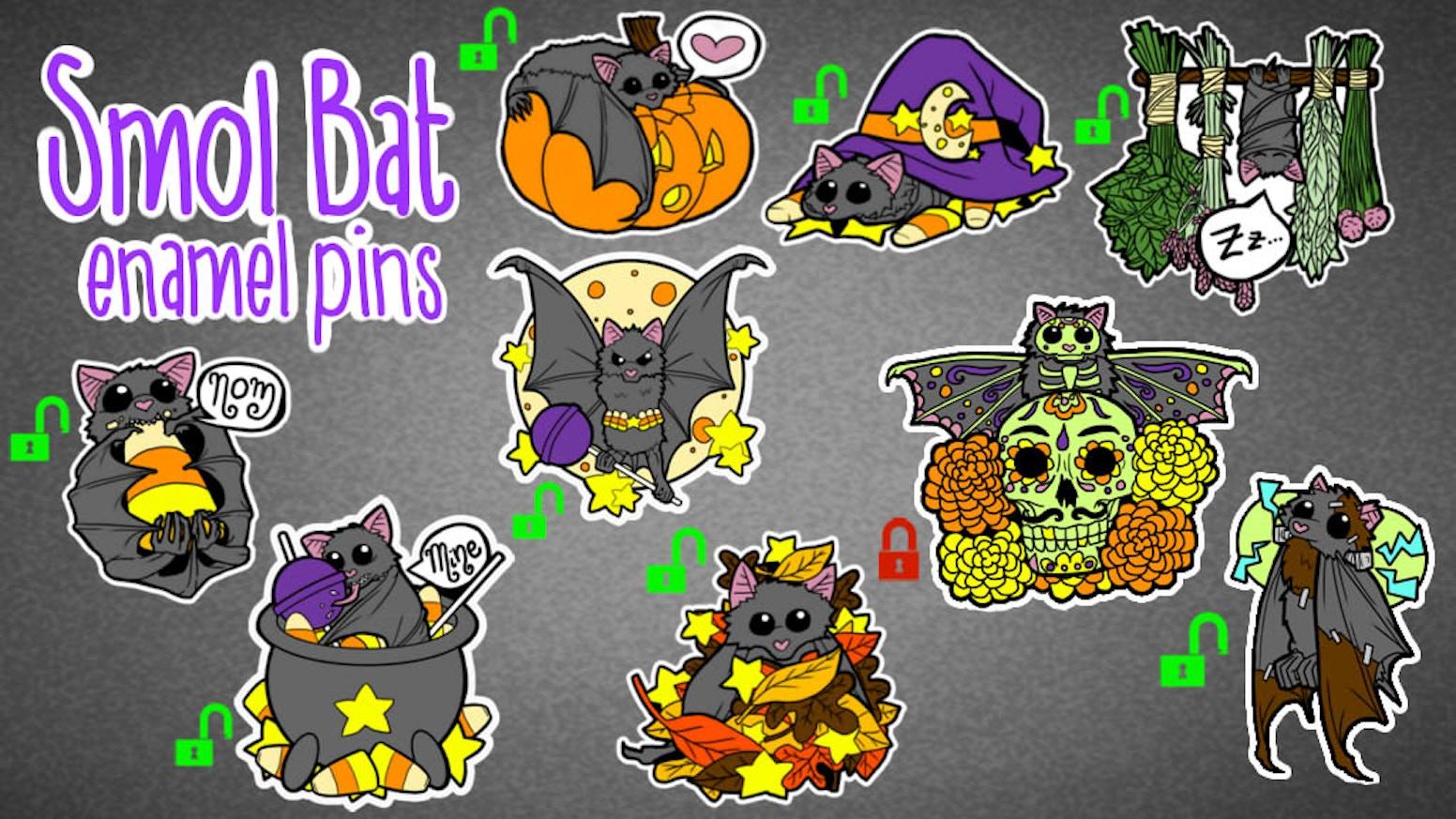 Smol Bat Enamel Pins by Thimsy » Stretch Goal 9 Unlocked! +