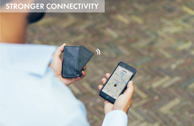 The upgraded Bluetooth 4.2 provides a more stable connection and double the connectivity range 200ft (60m). Separation alerts are now more accurate, notifying you immediately if you stray too far from your wallet or phone.