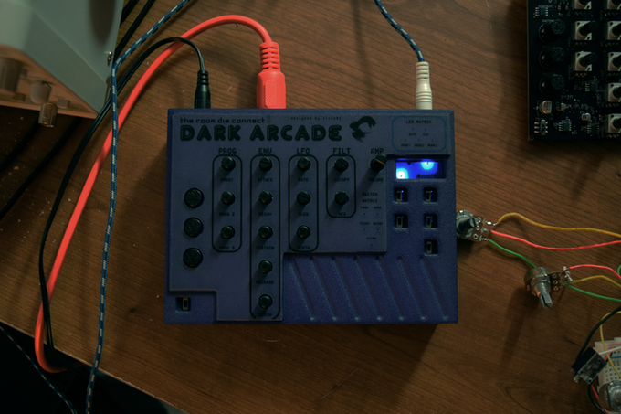 Front Plate of Dark Arcade (Colors Not Representative of Final Product)