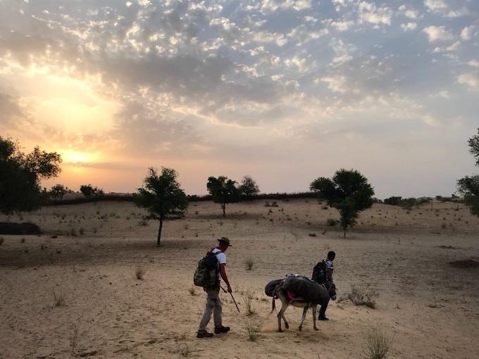Into the Thar Desert, Rajasthan. Photo by Arati Kumar Rao.