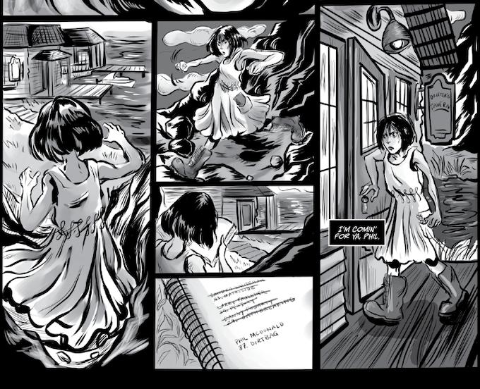 THE HARPY OF DEVIL'S LAKE - script: Bailey Sullivan, art: Andrea Rosales, letters: LetterSquids