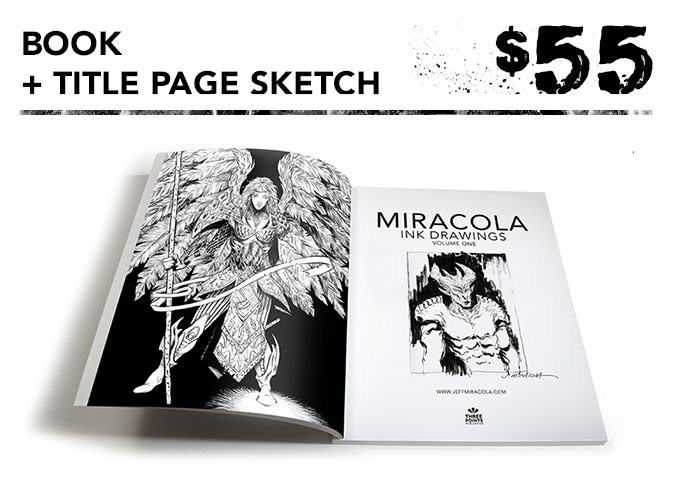 You get one signed art book + original sketch on title page (artist's choice; no requests) + the free art print.