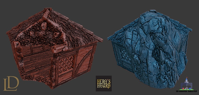 Burned & Frozen Cottage Renders (by Hero's Hoard)
