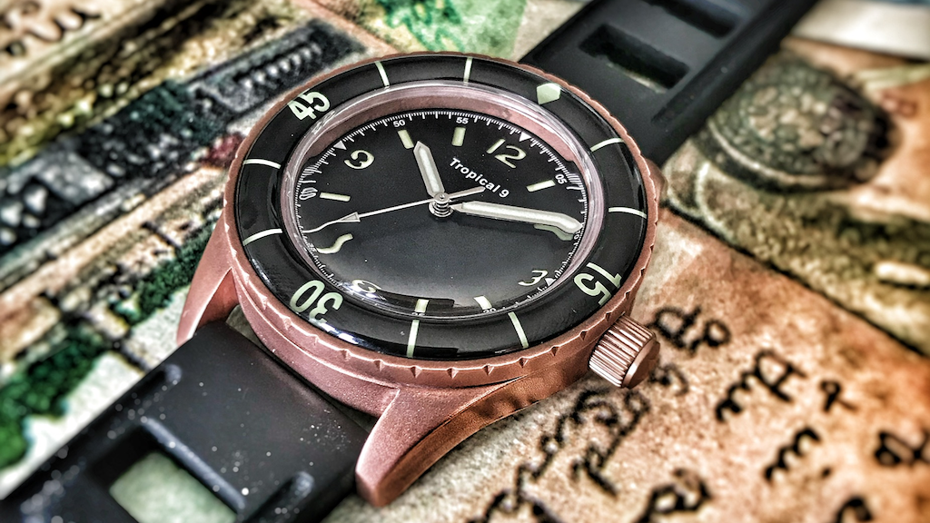 Solid Bronze Tropical Diver - a new watch from TC-9 Watches.