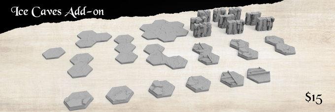 Water, Ice and Crystal cave and water transition tiles for every set