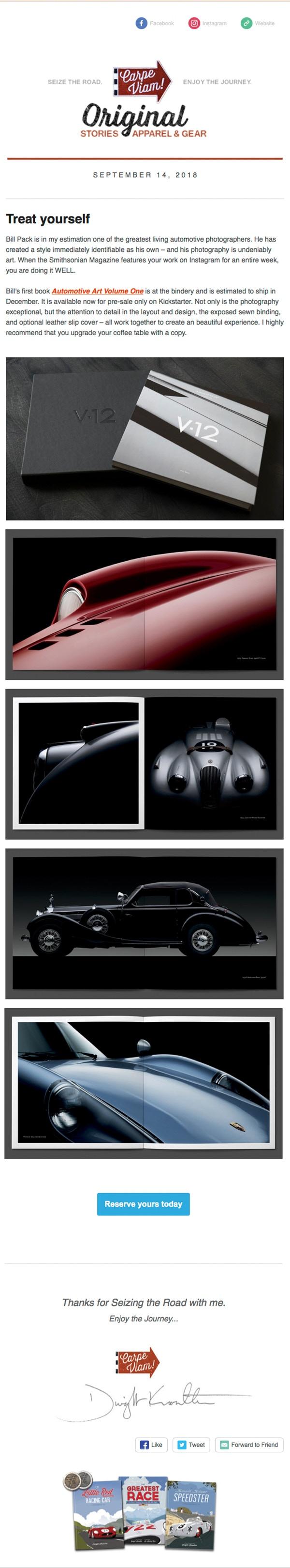 v12 automotive art volume one by bill pack carpe viam write up