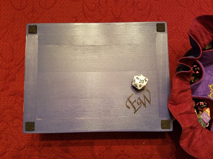 Even the bottoms of our Epic Dice Rolling Trays are stunning!
