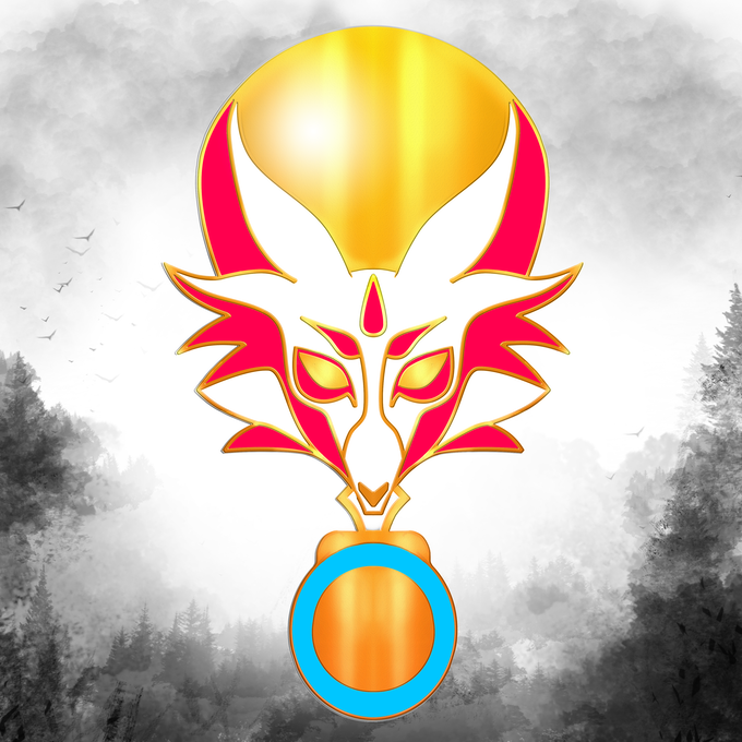 Kitsune Enamel Pin